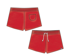 Red Basic Shorts - Tween