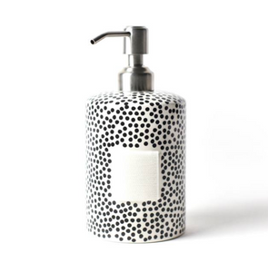 Black Small Dot Cylinder Soap Dispenser Pump - Happy Everything