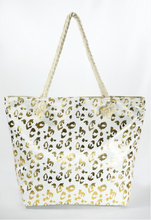 Bold Metallic Leopard Print Bag