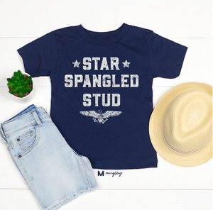 Youth Star Spangled Stud Tee