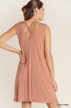 V-Neck Cut out Strap Swing Dress