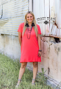 NEON CORAL DRUZZY DRESS - CRAZY TRAIN CLOTHING