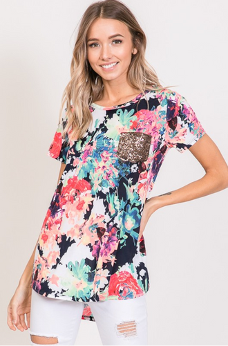 Vibrant Vibes Floral Top