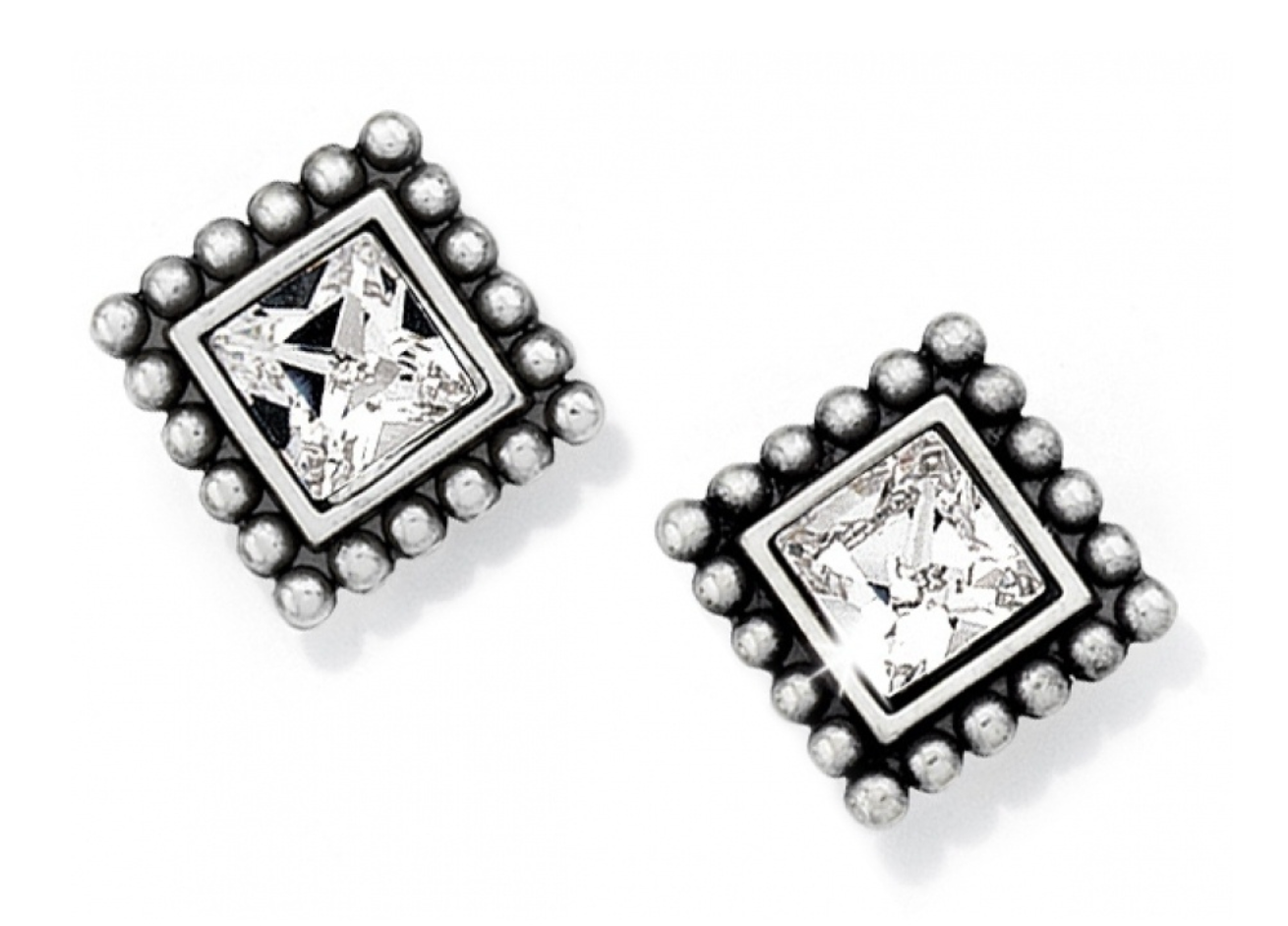 Sparkle Square Mini Post Earrings - Brighton