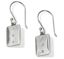 Contempo Ice Reversible Tile French Wire Earrings - Brighton