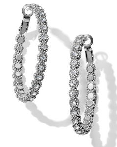 Twinkle Splendor Medium Hoop Earrings - Brighton