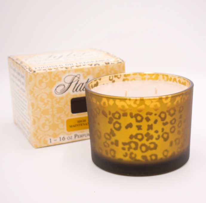 Tyler 16 oz Stature Muted Gold Leopard Perfumed Candle