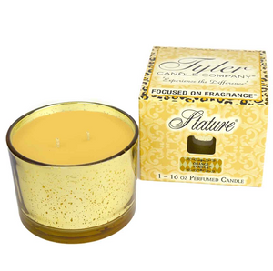Tyler 16 oz Stature Gold on Gold Reflective Perfumed Candle