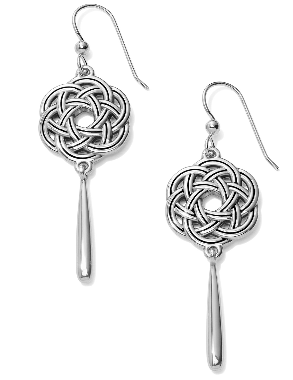 Interlok Eternity Circle French Wire Earrings - Brighton