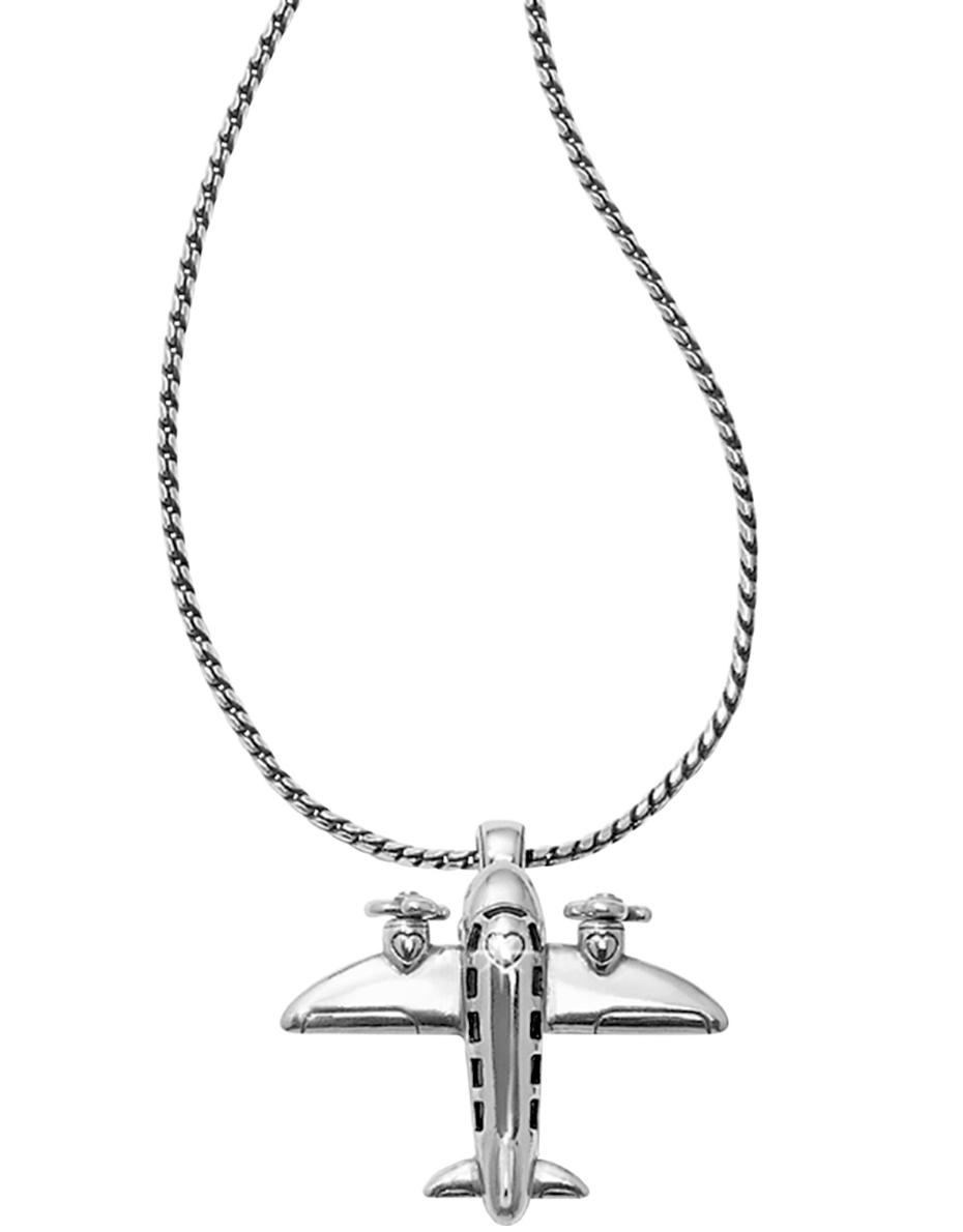 Aviator Badge Clip Necklace - Brighton