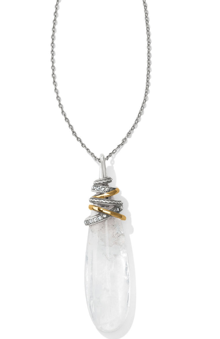 Neptune's Rings Pyramid Crystal Necklace - Brighton