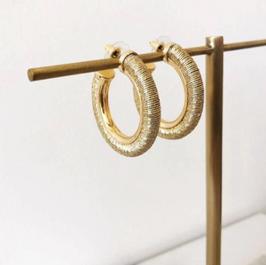 Metallic Thread Hoop Earrings