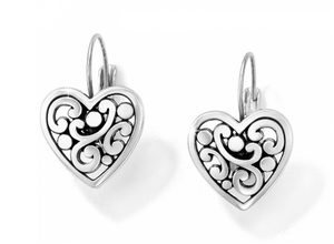 Contempo Heart Leverback Earrings - Brighton
