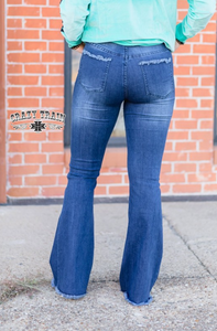 FLATTER FLARE DENIM JEANS - Crazy Train Clothing
