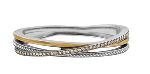 Neptune's Rings Narrow Hinged Bangle - Brighton
