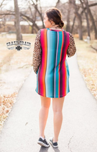 BORDER TOWN BUBBLE SLEEVE DRESS - CRAZY TRAIN CLOTHING