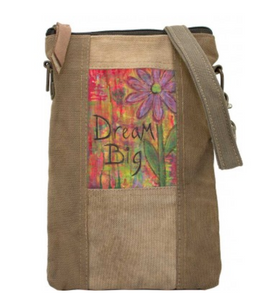 DREAM BIG RECYCLED TENT CROSSBODY