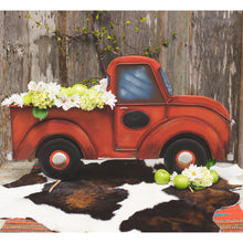 Large Red Pickup Truck - The Roundtop Collection