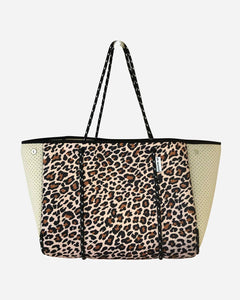 AHDORNED - Leopard Neoprene Tote With  Perforated Sides