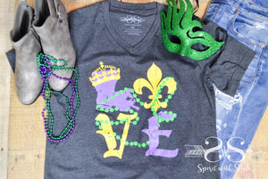 For the LOVE of Mardi Gras Tee - Preorder