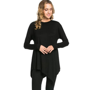 Crew Neck Long Sleeve Tunic
