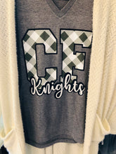 Clear Falls Knights - Gingham Plaid Tee