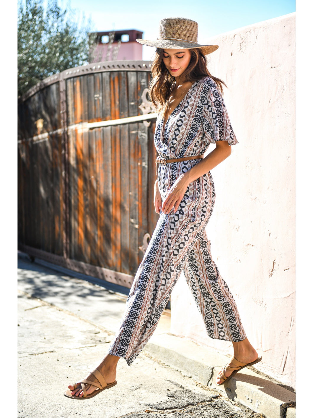 Jumpsuit with Short Flare Sleeves - New Release!