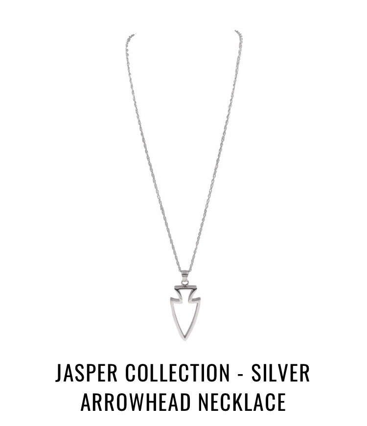THE JASPER COLLECTION - SILVER ARROWHEAD NECKLACE