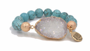 THE STONE COLLECTION AQUA MARINE BRACELET