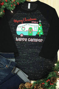 Happy Camper Christmas Tee - Preorder