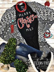 Black Merry CHRIST Mas Tee