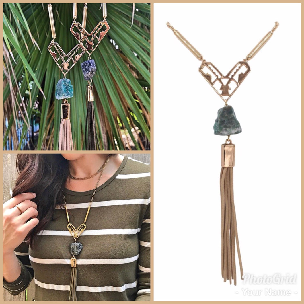Emerald Necklace - The Tassel Collection