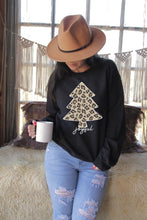 Leopard Christmas Tree on Black Sweatshirt/Tee