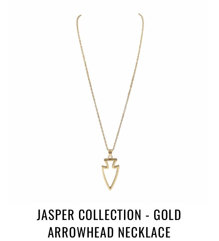 Gold Arrowhead Necklace - Jasper Collection