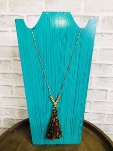 Tassel Necklace with Gold Detail