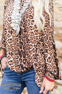 KNOT FOR LONG LEOPARD KNOT BELL SLEEVE - CRAZY TRAIN CLOTHING