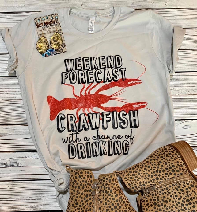 Crawfish with a Chance of Drinking Tee - Preorder