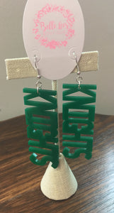 Acrylic Sports Team Earrings