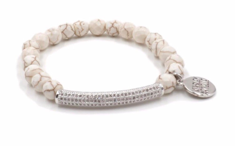 SILVER KHAKI BRACELET - THE GLITZ COLLECTION