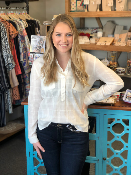 Emily Button Down Blouse - Dear John Denim
