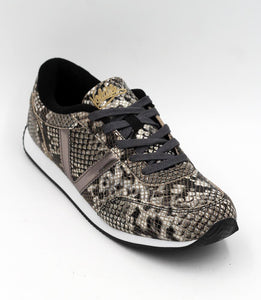 Very Volatile Fitness Taupe Multi Snake Skin Tennis Shoe