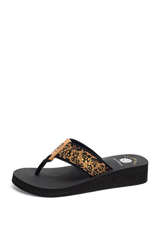 CAIRO SANDAL IN LEOPARD - Yellow Box Flipflops