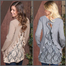 Ruffle Blouse with Lace Back