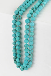 Two Toned Long Beaded Necklaces