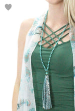 Snakeskin Tassel Necklace
