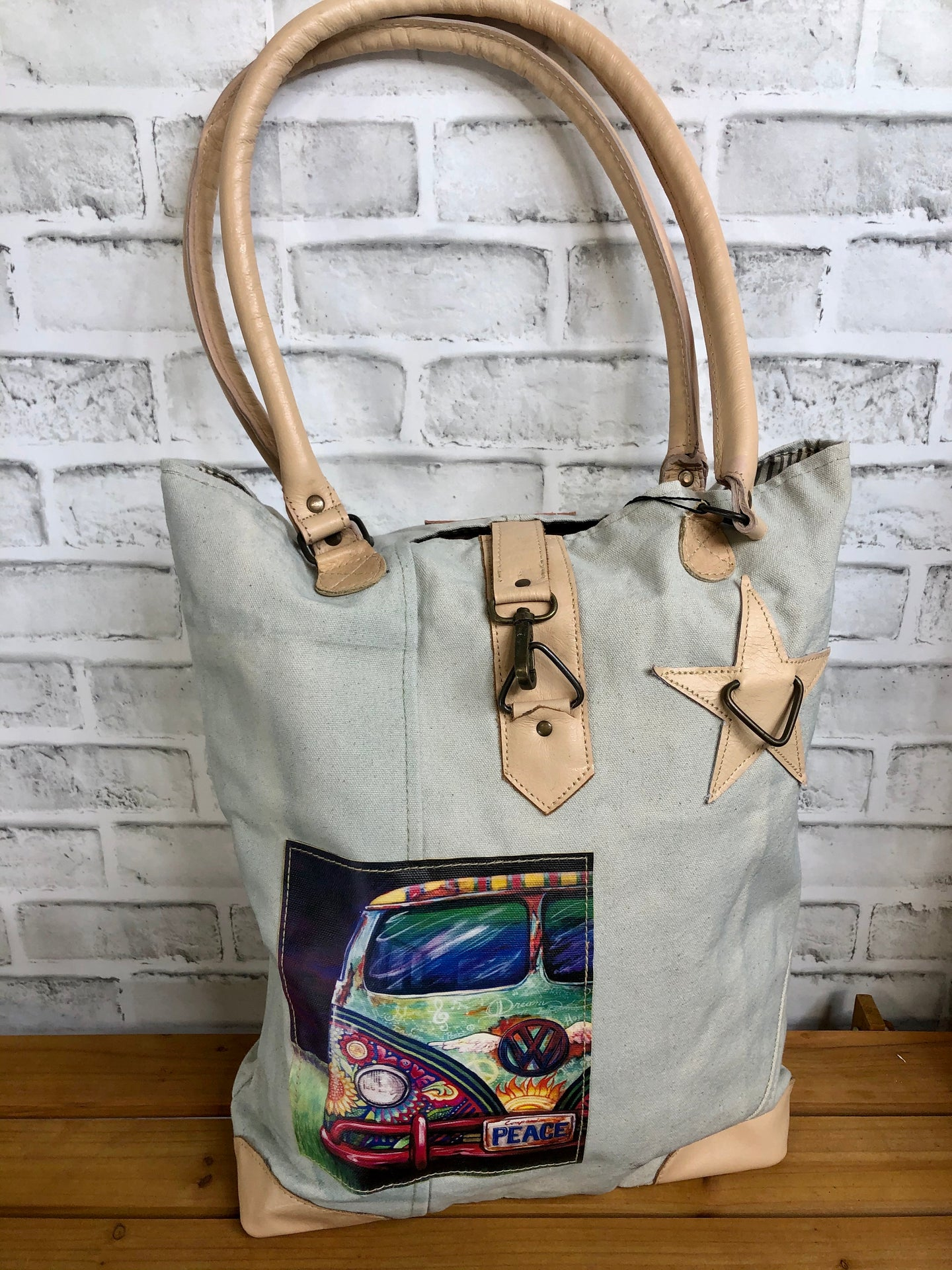 VW Peacemobile Canvas Tote