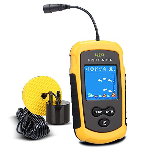 Fishing Finder™ Portable Sonar Alarm Sensor - Colored LCD