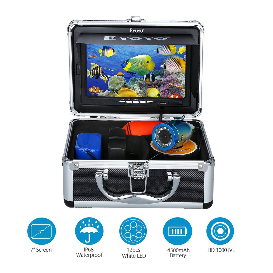 "Fishing Finder™ Underwater Fishing Video Camera 7"" Color HD Monitor"