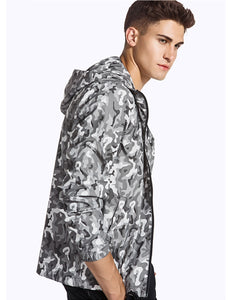 Camouflage Waterproof Windbreaker