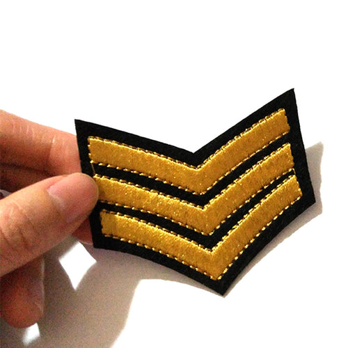 Military Rank Iron on Patch